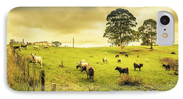 Colourful Australian Cattle Station IPhone Case by Jorgo Photography - Wall Art Gallery