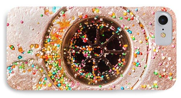 Colourful Confetti In Drain IPhone Case by Jorgo Photography - Wall Art Gallery