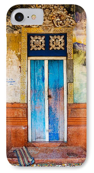 Colourful Door IPhone Case by Dave Bowman