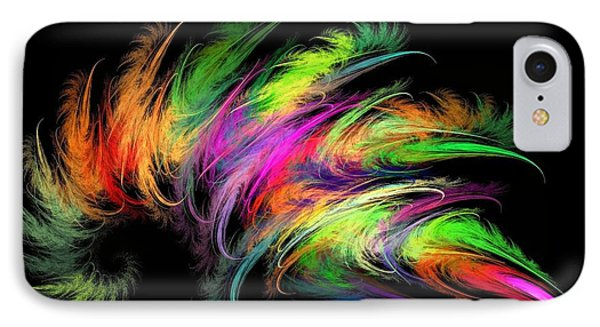 Colourful Feather IPhone Case by Klara Acel