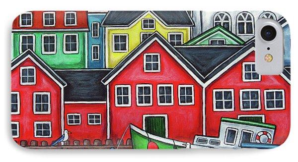 Colours Of Lunenburg Phone Case by Lisa  Lorenz