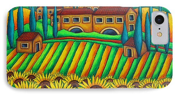 Colours Of Tuscany Phone Case by Lisa  Lorenz