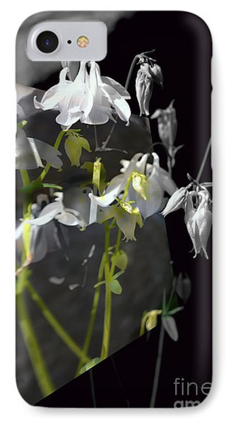 Columbine Shades Of Grey IPhone Case by Elaine Hunter