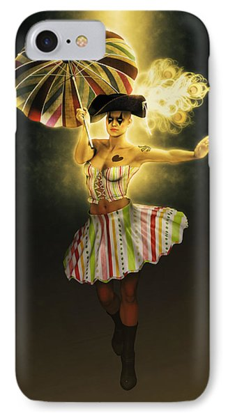 Columbine With Yellow Light IPhone Case by Joaquin Abella