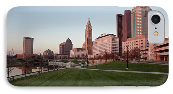 Columbus And The Scioto Greenway IPhone Case by Pam Burley