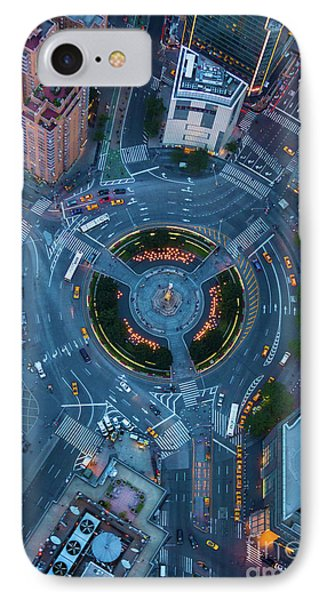 Columbus Circle IPhone Case by Inge Johnsson