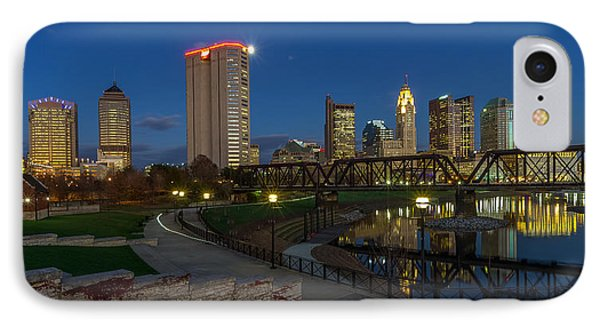 Columbus Ohio Skyline At Dusk Panoramic IPhone Case