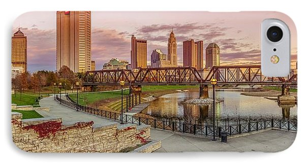 Columbus Ohio Skyline At Sunset IPhone Case