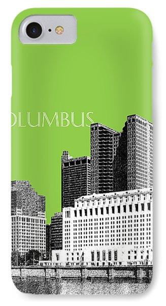 Columbus Ohio Skyline - Olive IPhone Case by DB Artist
