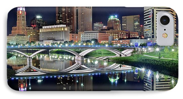 Columbus Over The Scioto IPhone Case by Frozen in Time Fine Art Photography