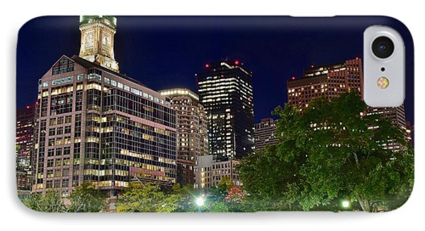 Columbus Park Boston View IPhone Case by Frozen in Time Fine Art Photography