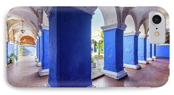 Columns In Santa Catalina Monastery IPhone Case by Jess Kraft
