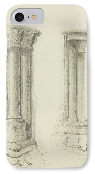 Columns IPhone Case by Thomas Leeson the Elder Rowbotham