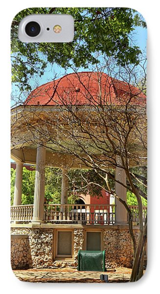 Comal County Gazebo In Main Plaza IPhone Case by Judy Vincent