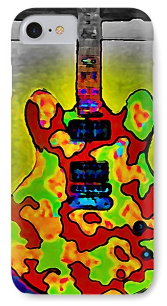 Combat Guitar IPhone Case by Gregory McLaughlin