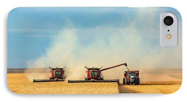 Combines And Tractor Working Together IPhone Case