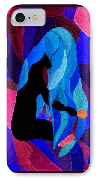 Combing The Waves Dark IPhone Case by Paula Ayers