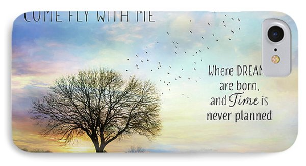 IPhone Case featuring the photograph Come Fly With Me by Lori Deiter