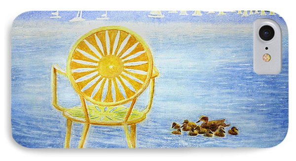 IPhone Case featuring the painting Come, Sit Here by Thomas Kuchenbecker