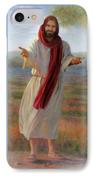 IPhone Case featuring the painting Come Unto Me Full-length by Nancy Lee Moran