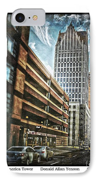 Comerica Tower Phone Case by Donald Yenson