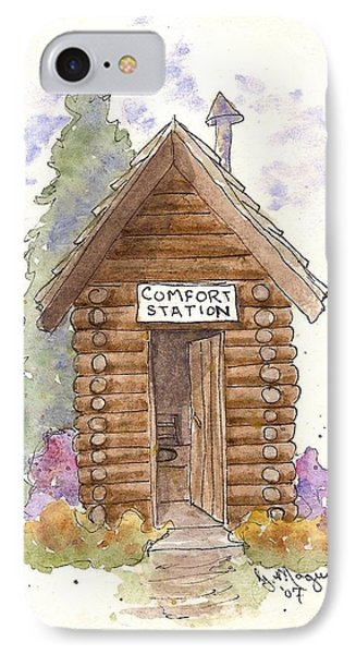 Comfort Station IPhone Case by Gail Maguire