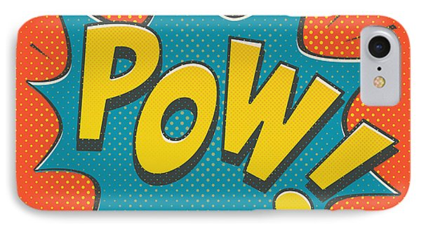 Comic Pow IPhone Case by Mitch Frey