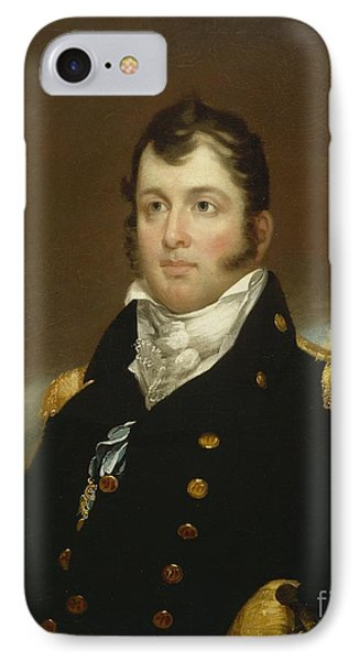 Commodore Oliver Hazard Perry IPhone Case by John Wesley Jarvis