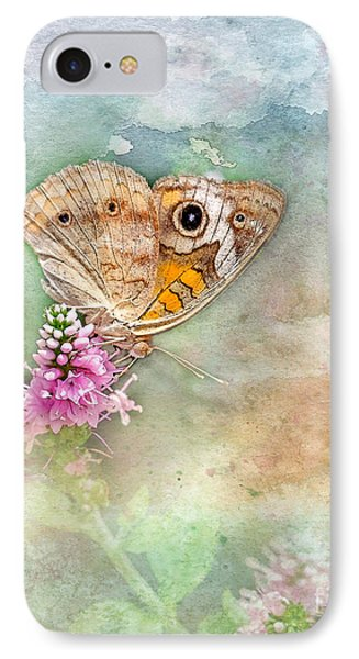 IPhone Case featuring the photograph Common Buckeye by Betty LaRue