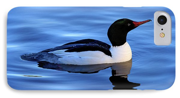 IPhone Case featuring the photograph Common Merganser Duck In Stanley Park by Terry Elniski