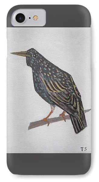 Common Starling IPhone Case by Tamara Savchenko