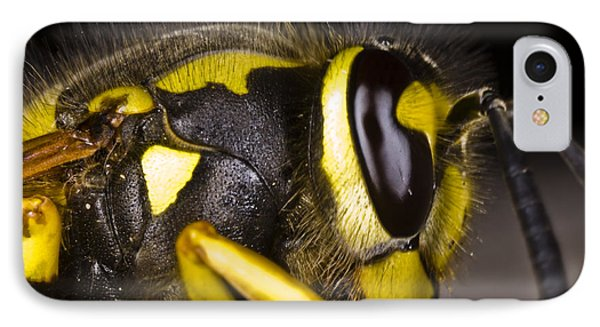 IPhone Case featuring the photograph Common Wasp Vespula Vulgaris Close-up by Gabor Pozsgai