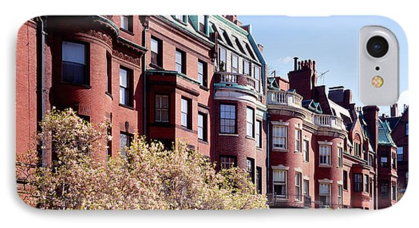 Commonwealth Avenue Boston Ma IPhone Case by Panoramic Images
