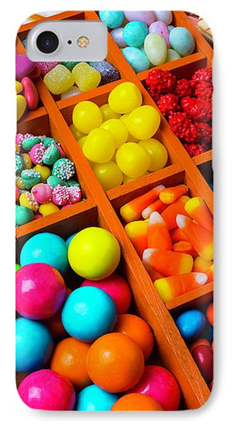 Compartments Of Yummy Candy IPhone Case by Garry Gay