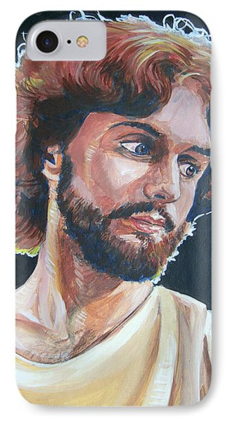 IPhone Case featuring the painting Compassionate Christ by Bryan Bustard