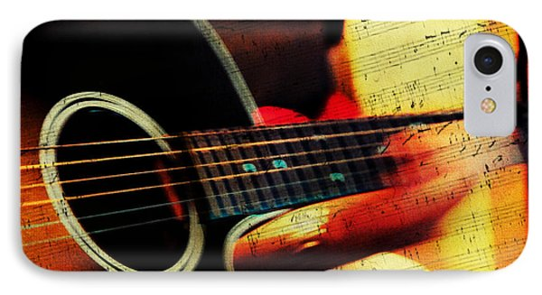 Composing Hallelujah. Music From The Heart  IPhone Case by Jenny Rainbow
