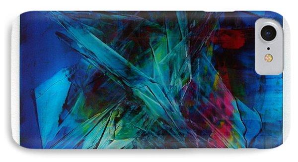 Composition In Blue Phone Case by Albert Kutzelnig