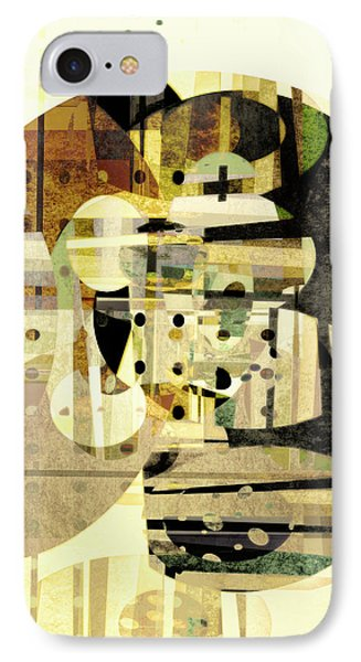Composition Number Three Abstract Art IPhone Case by Ann Powell