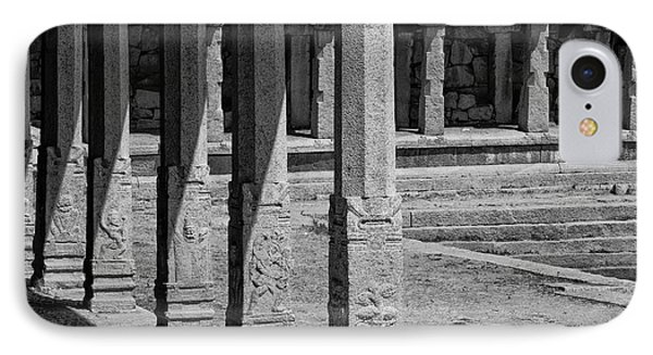 IPhone 7 Case featuring the photograph Composition Of Pillars, Hampi, 2017 by Hitendra SINKAR