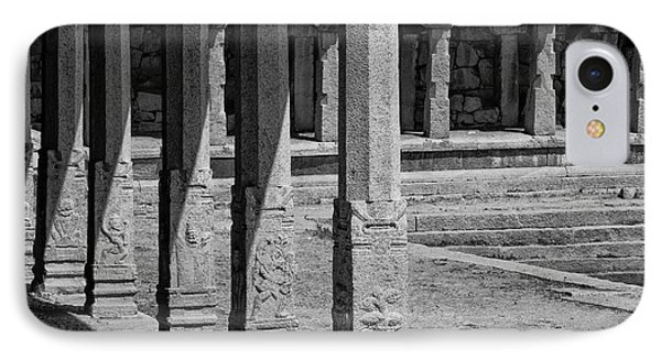IPhone Case featuring the photograph Composition Of Pillars, Hampi, 2017 by Hitendra SINKAR