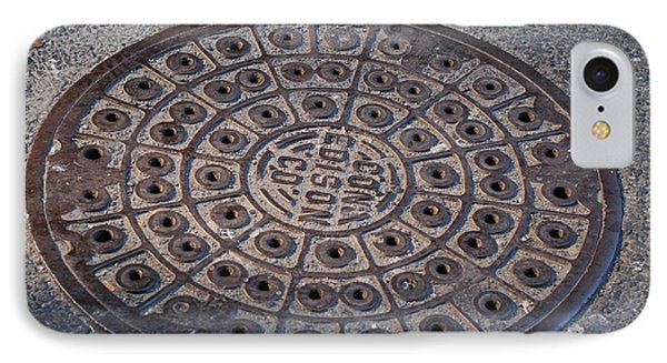 Con Ed Sewer Cap Phone Case by Rob Hans