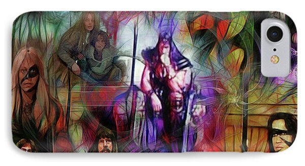 Conan The Barbarian Collage - Square Version IPhone Case