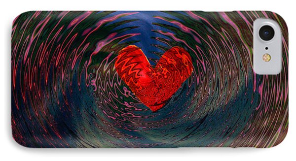 IPhone Case featuring the digital art Concentric Love by Linda Sannuti