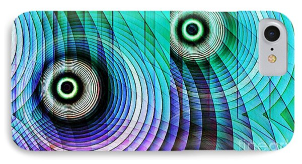 Concentric Rings 4 IPhone Case by Sarah Loft