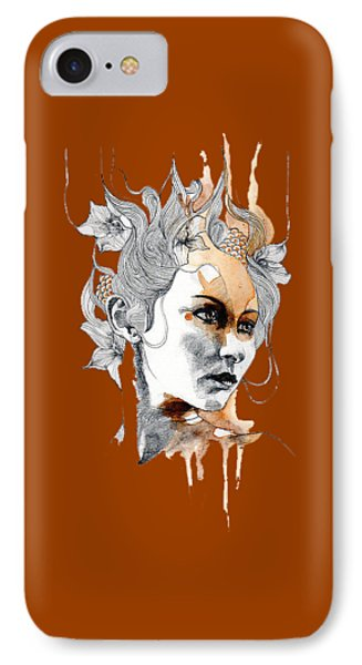 Concerned T-shirt IPhone Case by Herb Strobino