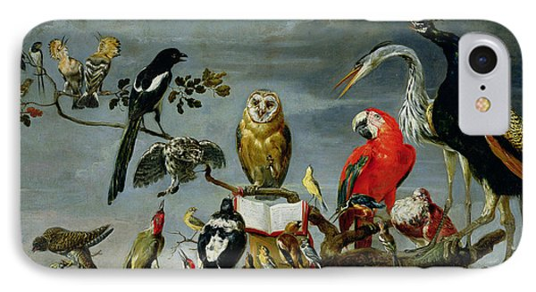 Concert Of Birds IPhone Case by Frans Snijders