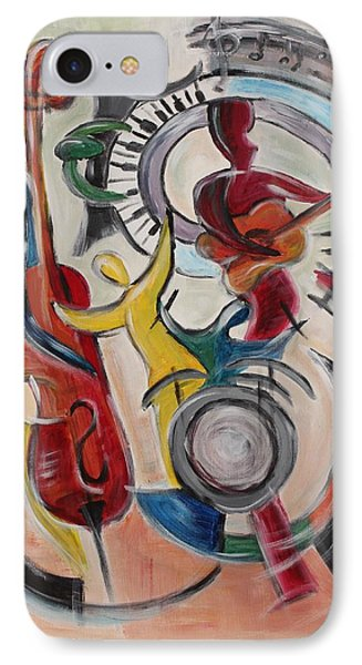 IPhone Case featuring the painting Concert by Sladjana Lazarevic