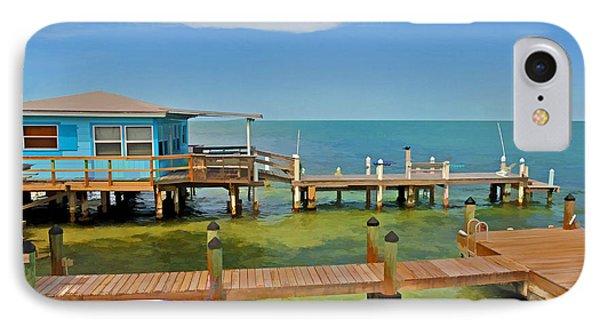 Conch Key Blue Cottage 3 IPhone Case