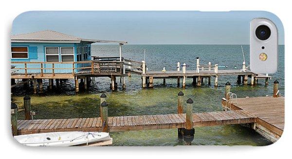 Conch Key Blue Cottage IPhone Case