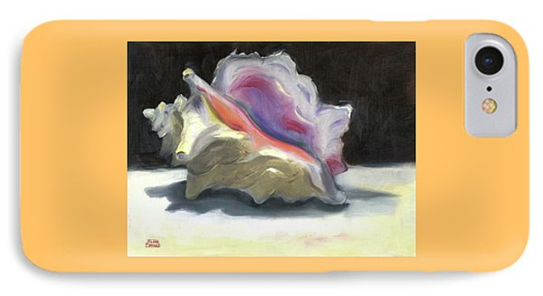 IPhone Case featuring the painting Conch Shell by Susan Thomas
